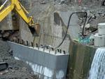 砂防堰堤無人配管コンクリート打設:拡大画像4